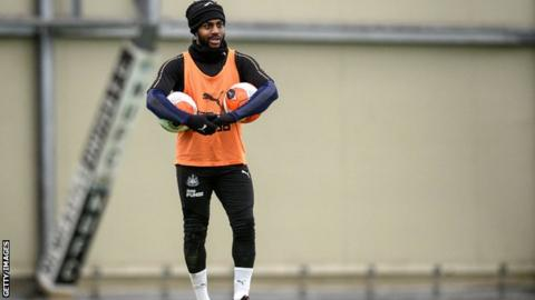 Danny Rose during Newcastle training