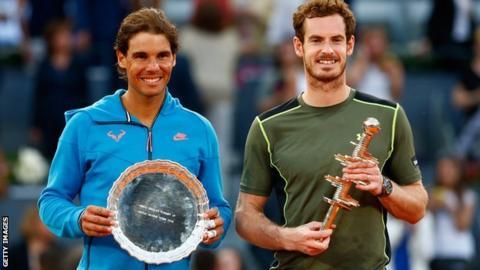 sport Rafael Nadal and Andy Murray
