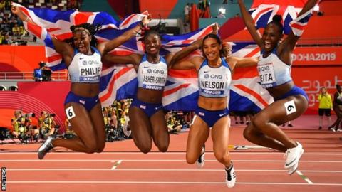 sport GB relay team
