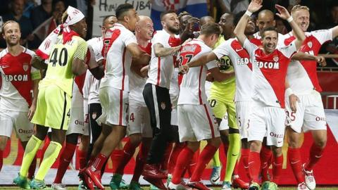Monaco win the Ligue 1 title