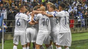 Finland celebrate
