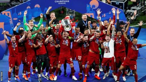 sport Liverpool won last season's Champions League after beating Tottenham in the final