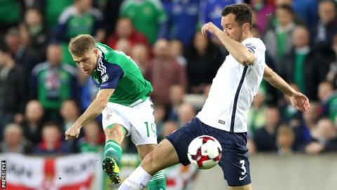 Jamie Ward fires in Northern Ireland's early goal against Norway