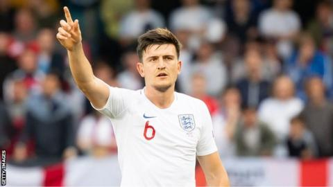 Harry Maguire playing for England