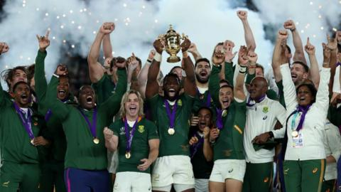 South Africa lift the world cup