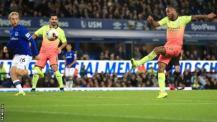 Raheem Sterling scores for Man City