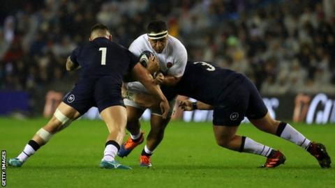 Mako Vunipola training with Saracens after being stood down by ...