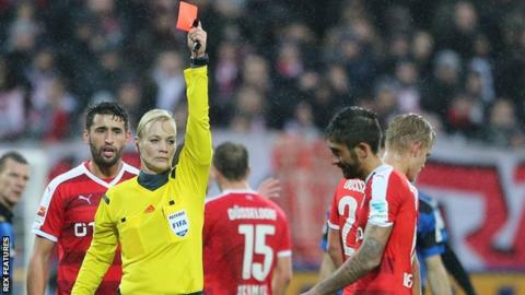 Bibiana Steinhaus has refereed in Germany's second tier