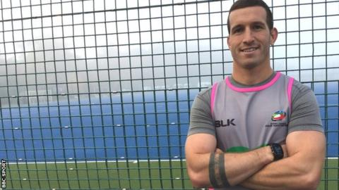 Referee Jack Smith training with fellow Four Nations officials at Leeds Beckett University