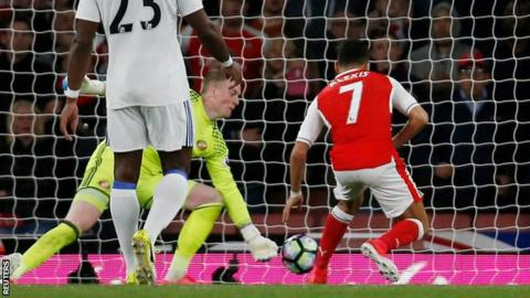 Arsenal score the opener through Alexis Sanchez