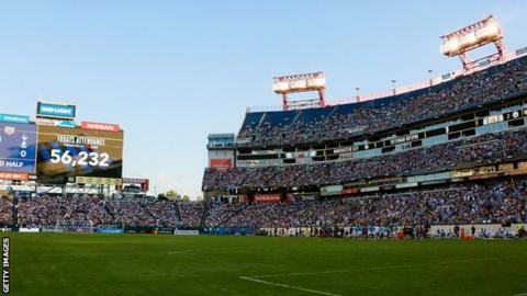 Manchester City and Tottenham Hotspur in action in Nashville.