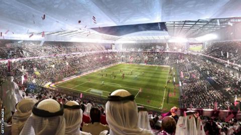Artist's impression of Qatar World Cup in 2022