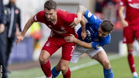 Craig Bryson in action for Aberdeen