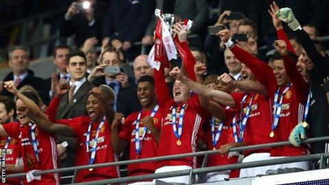 Manchester United have won the League Cup for a fifth time