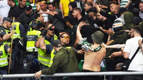 celtic fans swedish police
