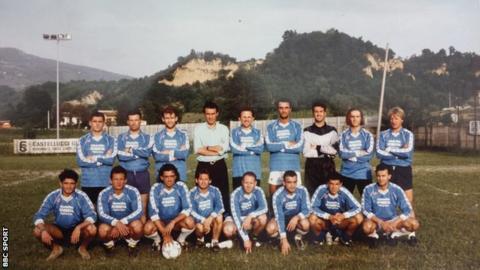 Team photo with Maurizio Sarri