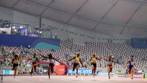 sport Women's 100m final in Doha