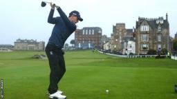 Jordan is a shot clear at the halfway stage after carding 64 on the Old Course on Friday