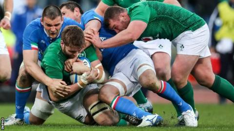 sport Ireland's men were scheduled to play Italy at the Aviva Stadium on 7 March