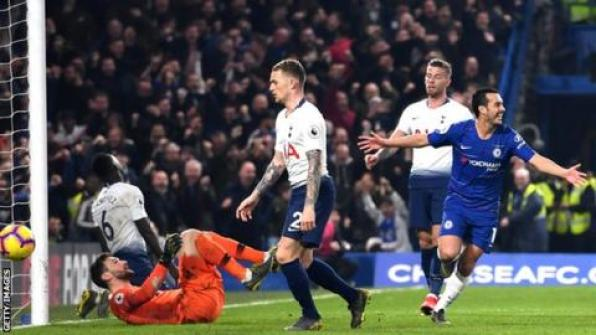 Image result for Chelsea vs Tottenham 2-0 Higuain
