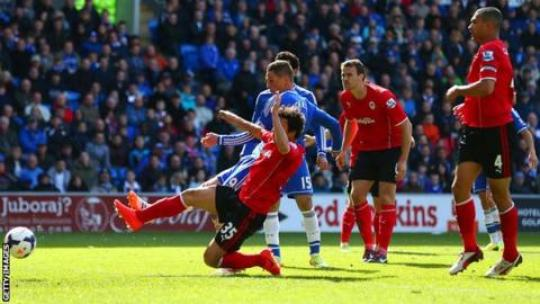 Image result for Cardiff vs Chelsea 1-2