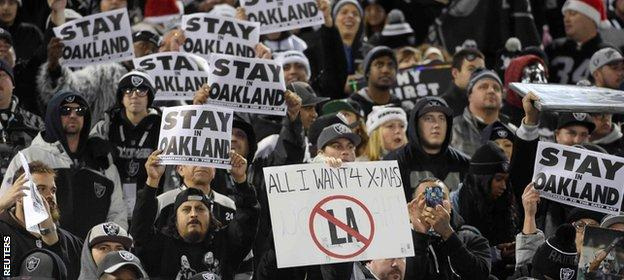 Oakland fans want their team to remain where it is.