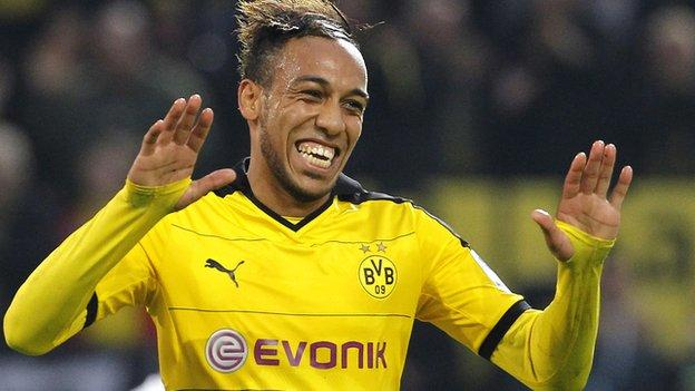 Image result for Aubameyang happy