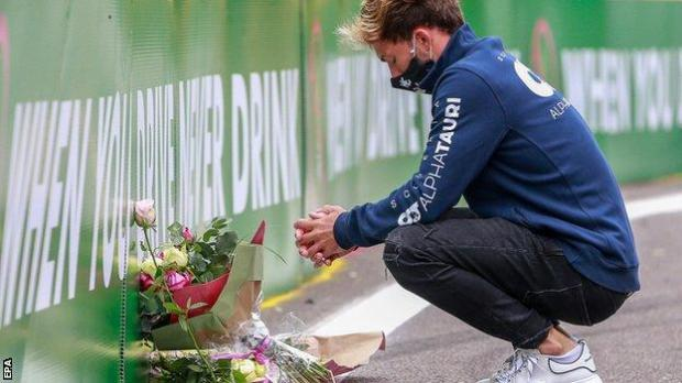 Pierre Gasly pays tribute to Anthoine Hubert