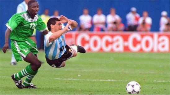 Diego Maradona: how his genius shone in his last Argentina game - BBC Sport