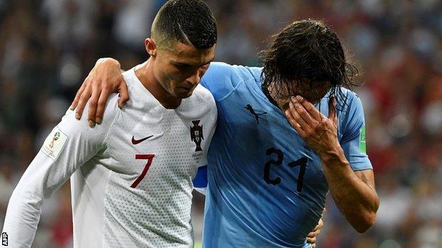 Cristiano Ronaldo and Edinson Cavani