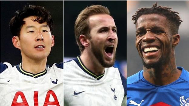 Son Heung-min (Tottenham), Harry Kane (Tottenham), Wilfried Zaha (Crystal Palace)