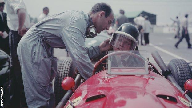 Stirling Moss and Mike Hawthorn