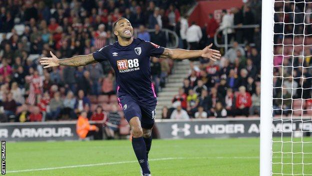 Callum Wilson celebrating a goal for Bournemouth