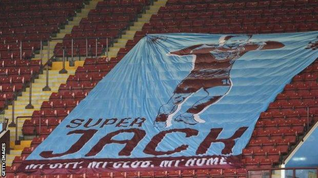 Banner of Jack Grealish at Villa Park