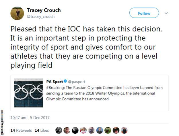 Tracey Crouch tweet