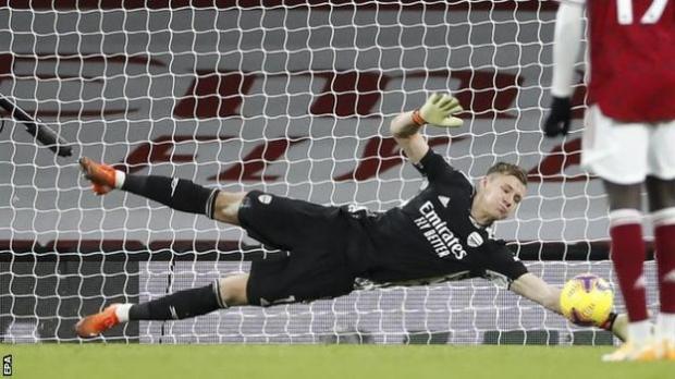 Arsenal goalkeeper Bern Leno