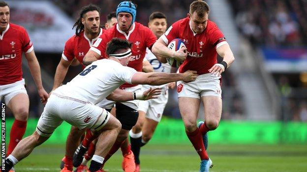 Wales centre Nick Tompkins has won seven caps including the Six Nations defeat by England in March 2020