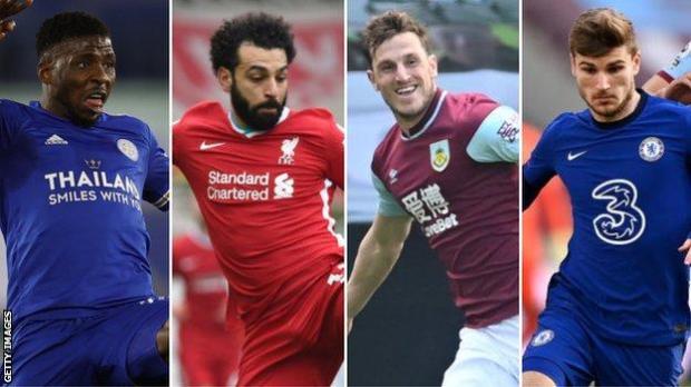 Kelechi Iheanacho, Mohamed Salah, Chris Wood and Timo Werner