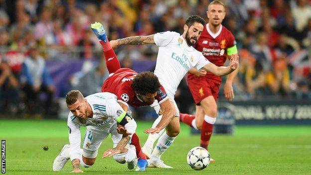 Sergio Ramos & Mohamed Salah