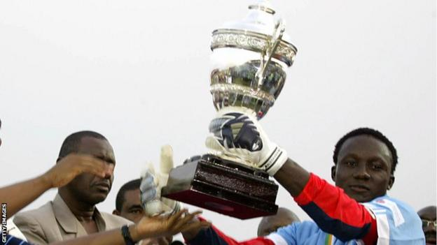 Dele Aiyenugba with the African Super Cup