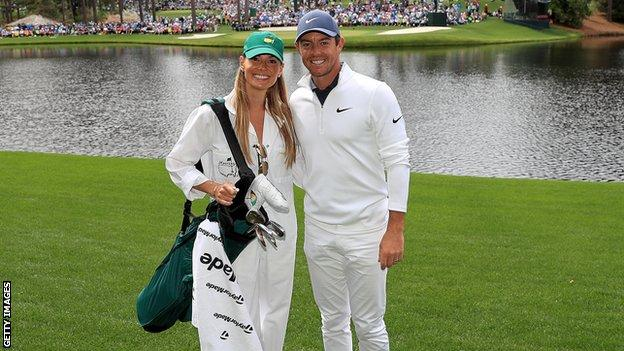Rory McIlroy and his wife, Erica