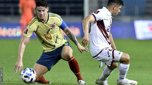 Everton and Colombia midfielder James Rodriguez