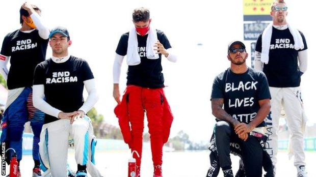 Lewis Hamilton (right)