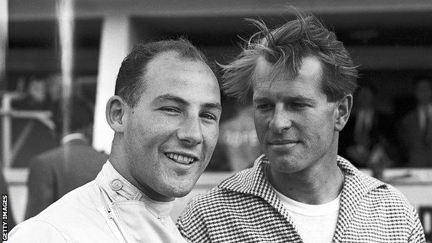 Stirling Moss and Peter Collins