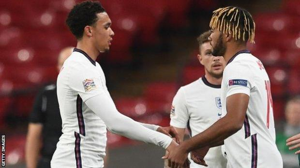 Trent Alexander-Arnold is joined by Chelsea's Reece James, Atletico Madrid's Kieran Trippier and Manchester City's Kyle Walker