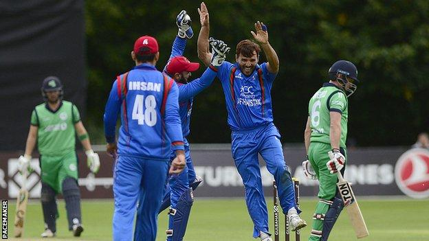 Ireland v Afghanistan: Tourists win first ODI by 29 runs at Stormont - BBC  Sport
