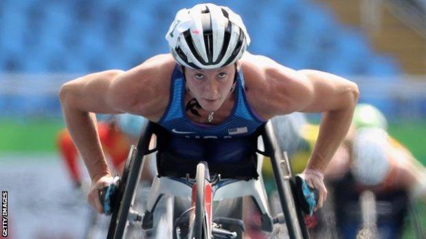 American wheelchair racer Tatyana McFadden