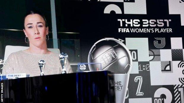 Lucy Bronze was named the winner during a virtual ceremony in Zurich