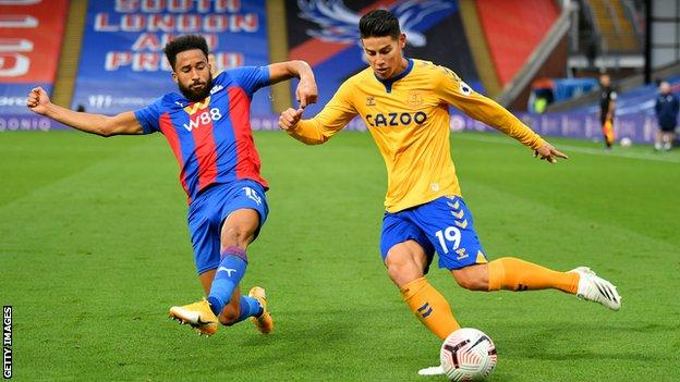 James Rodriguez, Andros Townsend, Crystal Palace, Everton