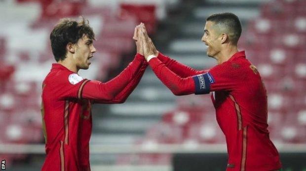Joao Felix and Cristiano Ronaldo